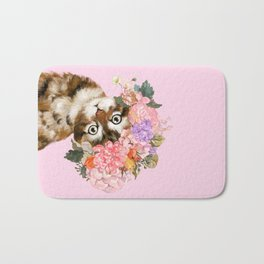 Baby Cat with Flower Crown Bath Mat
