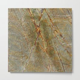 Forest Green Marble Metal Print