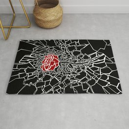The Shattered Rose Rug