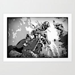Motocross Dirt-Bike Championship Racer Art Print