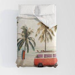 Vintage Beach Days Comforters