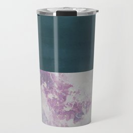 Bit of Brushstroke - Teal & Pink Travel Mug