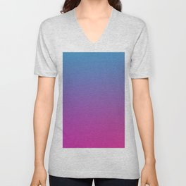 RETRO BLAST - Minimal Plain Soft Mood Color Blend Prints Unisex V-Neck