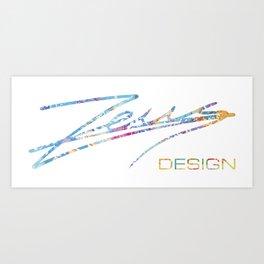 Zeus Design Colorful Art Print