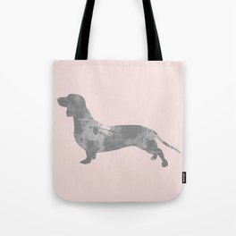 Dachshund pink and black Tote Bag