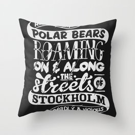 Facts About Sweden N°1 Throw Pillow