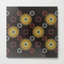 Dots Mandala Colorful Pattern Design Boho Style Decor Metal Print