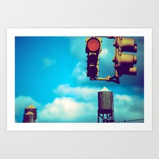 NYC Traffic Light Art Print