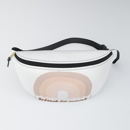 Kind is Cool Dotted Rainbow Fanny Pack