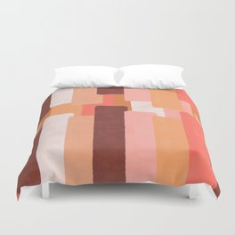 Line In Coral #society6 #abstractart Duvet Cover