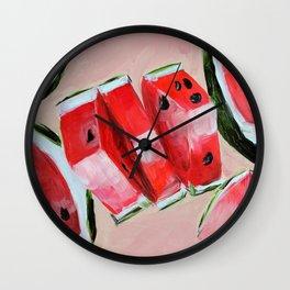 Fruit, watermelon, summer Wall Clock