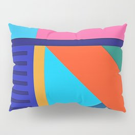 Modern Vibrant Geometric Pattern #10 Rectangles and Triangles Pillow Sham
