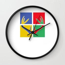 Pop Art Deer Wall Clock