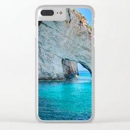Greece Ocean Clear iPhone Case