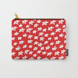 Stars on red background Carry-All Pouch