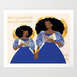 Songbird Angels Art Print