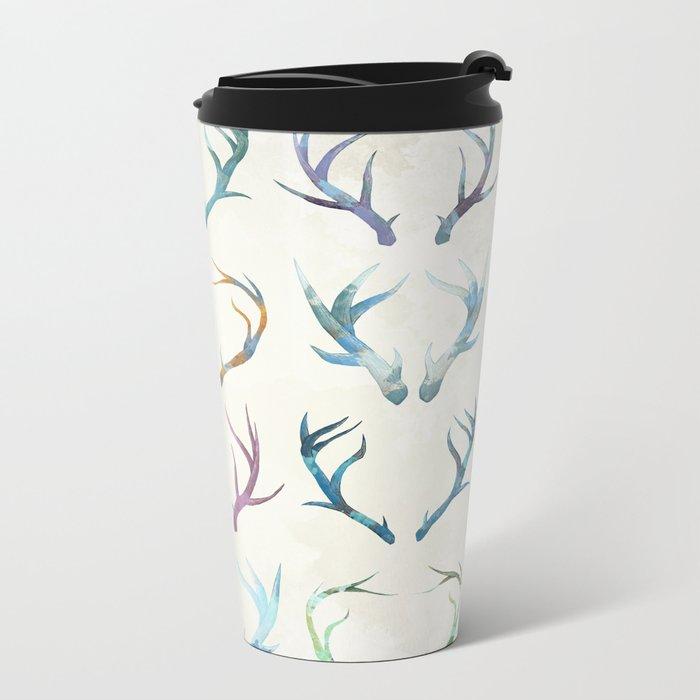 Autumn Antlers Metal Travel Mug