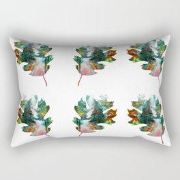 Autumn Leaf Art Rectangular Pillow