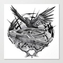 Triquetra crow flight Canvas Print