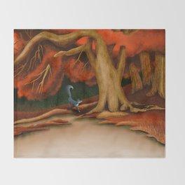Blue Fox at The Dark Pool of Malkkaard Throw Blanket