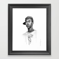 Strapped & Famous Framed Art Print