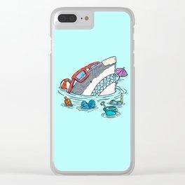 Beach Party Shark Clear iPhone Case