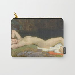 Reclining Nude by the Forest River and Waterfall Pastoral by Dod Procter  Carry-All Pouch