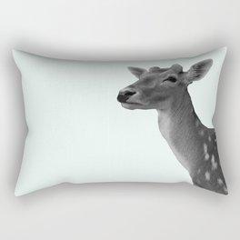 Deer on Mint Rectangular Pillow