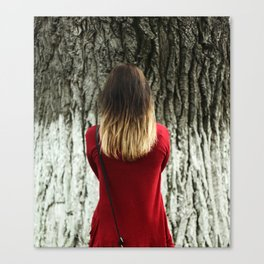 face the tree Canvas Print