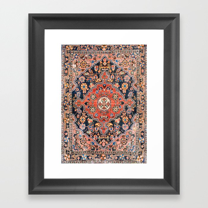 Djosan Poshti West Persian Rug Print Gerahmter Kunstdruck