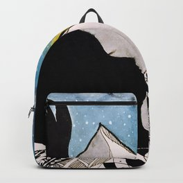 Woman in the Mountains Backpack