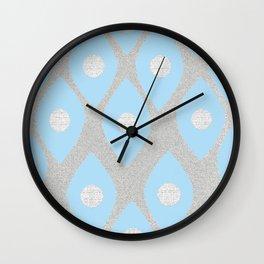Eye Pattern Blue Wall Clock