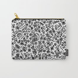 Black little flowers Carry-All Pouch