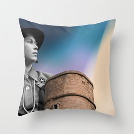 Queen & Tower Throw Pillow