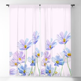 purple cosmos flowers in bloom Blackout Curtain