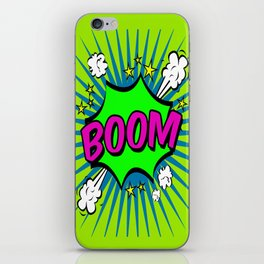 Boom Lime Boom iPhone Skin