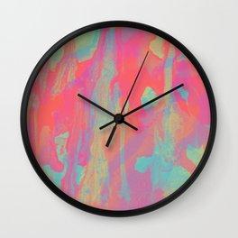 Neon Marble Wall Clock