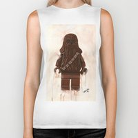 chewbacca Biker Tanks featuring Lego Chewbacca by Toys 'R' Art