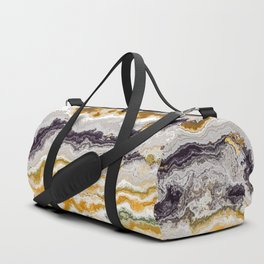 Orange marble texture Duffle Bag