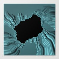 infamous Canvas Prints featuring infamous black hole, FRACTALS by ACKelly