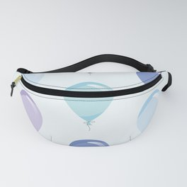 Blue Balloons Fanny Pack