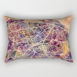 Edinburgh City Scotland Street Map Rectangular Pillow