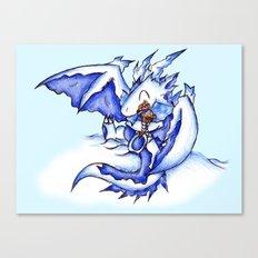 Ice Dragon Ice Cream Bliss Canvas Print