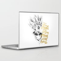 dragonball z Laptop & iPad Skins featuring Dragonball Z - Strenth by Straife01