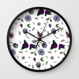 Garden Doodles Wall Clock