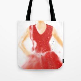 red as red Tote Bag