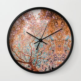 The Lungs of the Earth - Gold, Pink &Turquoise Wall Clock