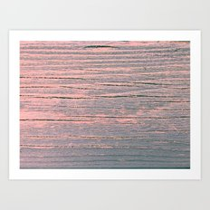 Rustic pastel weathered wood Art Print