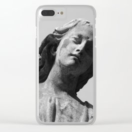Weeping Angel Clear iPhone Case