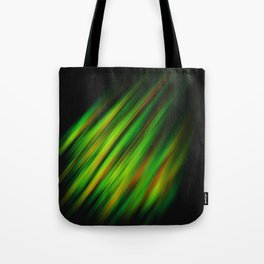 Colorful neon green brush strokes on dark gray Tote Bag